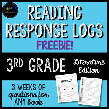 FREEBIE! Reading Response Logs for 3rd Grade