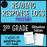 FREEBIE! ***3 WEEKS*** of Reading Response Logs for ANY fiction book