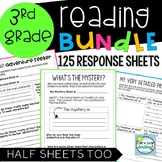 3rd Grade Reading Response Graphic Organizers  ~ 125 Fiction and Nonfiction