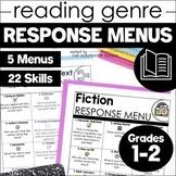 Reading Response Menu Choice Boards | 1st 2nd Grade | Dist