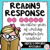 Distance Learning Reading Response Menus *EDITABLE*