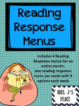 Reading Response Menus