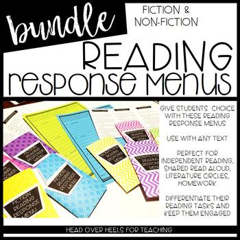 Reading Response Menus Bundle {Fiction & Non-Fiction} (Common Core Aligned)