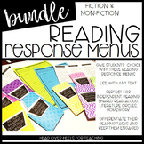 Reading Response Menus Bundle {Fiction & Non-Fiction} (Com