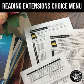 Reading Response Menus: Differentiated Prompts for ANY Novel!
