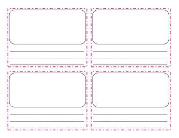Reading Response (Mini) Sheet for Anchor Charts