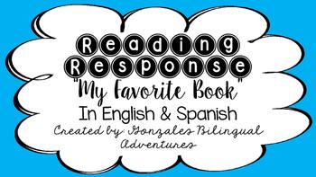 Reading Response My Favorite Book BILINGUAL