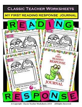 Reading Response - My First Reading Response Journal - Kindergarten to Grade 1