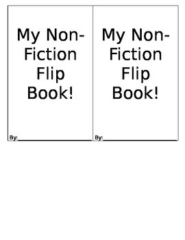 Reading Response - Non-Fiction Flip Book