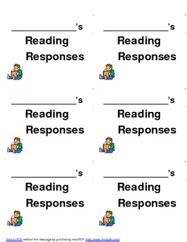 Reading Response Notebook:  Labels