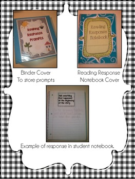 Reading Response Notebook ~ Prompts