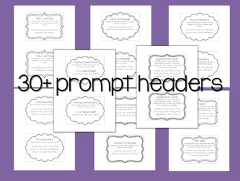 Reading Response Notebook ~ Writing Prompts ~ Fiction and Nonfiction Text