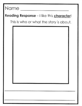 reading response pack comprehension story elements vocabulary k
