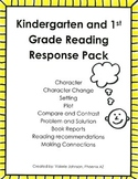Reading Response Pack, Comprehension, Story Elements, Voca