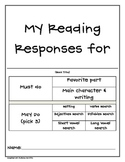 Reading Response Pack (fiction)