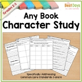 Character Study Pages:  Any Book Character Reaction, Interactions, Traits