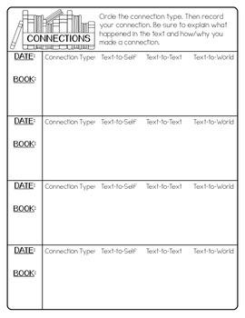 Reading Response Pages {Reading Portfolio Freebies}