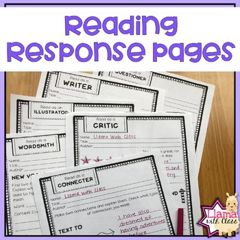 Reading Response Pages: Reading with a Focus