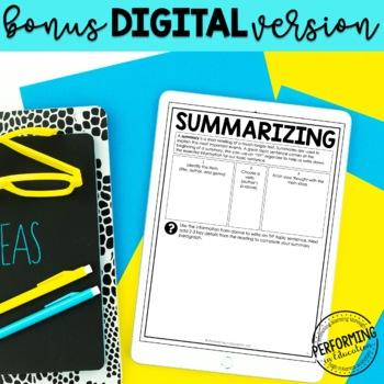 Reading Response Paragraphs: Editable Informational and Literature Bundle