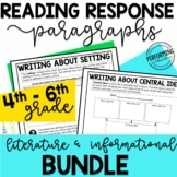 Reading Response Paragraphs: Editable Informational and Li