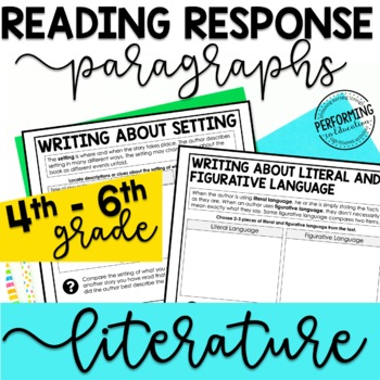 Reading Response Paragraphs: Editable Organizers For Every Literature Standard