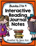 Interactive Reading Journal Notes: Grade 2-4