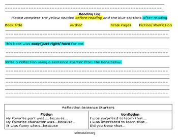 Reading Response Primary Grades