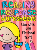 Guided Reading Response Printable Worksheet Pack - ANY FICTIONAL TEXT