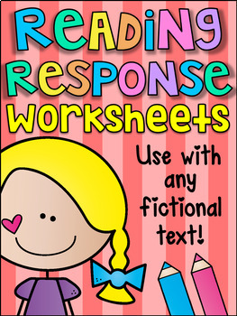 Guided Reading Response Printable Worksheet Pack - ANY FIC