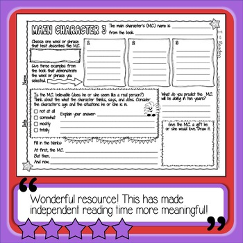 Reading Response Printables - I Heart Reading