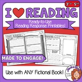 Reading Response Printables - I Heart Reading