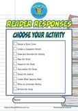 Reader Response Choose Your Activity Pack (Short Fiction)