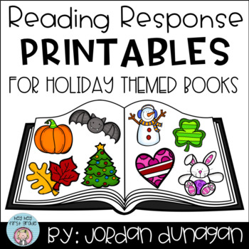Reading Response Printables For Holiday Books (Growing Bundle!)
