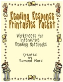 Reading Response Printables Packet: Worksheets for Interac