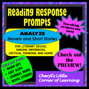 Reading Response Prompts - Literary Analysis