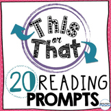 Reading Response Prompts: Students choose from 40 creative prompts!