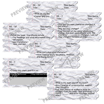 Reading Response Prompts and Task Cards (2 Versions:  Display and Task Cards!)