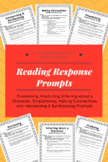 Reading Response Prompts for Grades 3-8:  Notebook & Works