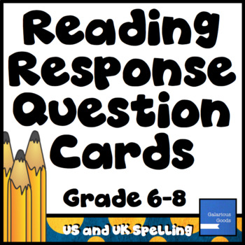Reading Response Question Cards