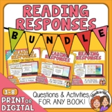 Reading Response Question Cards Bundle for Any Book