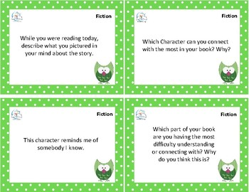 Reading Response QUESTION Task Cards {Fiction and Informational Nonfiction}