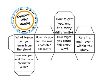 Reading Response Question Cubes