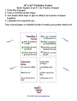 """Reading Response Questions (16""""x20"""") Printable Poster"""