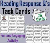 Reading Response Questions Task Cards 3rd 4th 5th 6th 7th Grade Story Elements