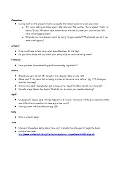 Reading Response Questions - Because of Mr. Terupt
