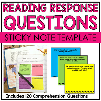 Reading Response Questions Sticky Notes