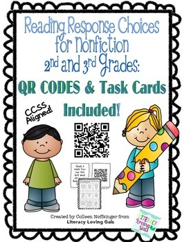 Reading Response Questions for Nonfiction with QR Codes and Task Cards