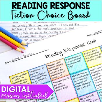 Reading Response Choice Board
