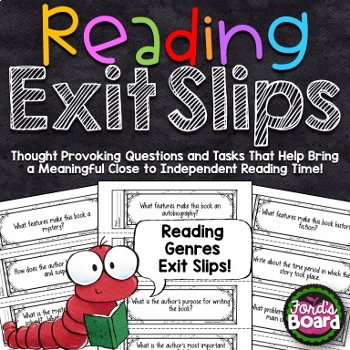 Reading Exit Slips Bundle
