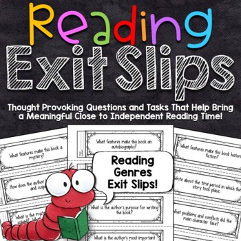 Reading Exit Slips   Reading Genres